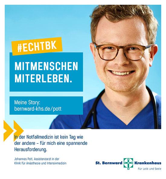 Johannes Pott Assistenzarzt St. Bernward Krankenhaus