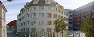 So soll der geplante Neubau am St. Bernward Krankenhaus aussehen.