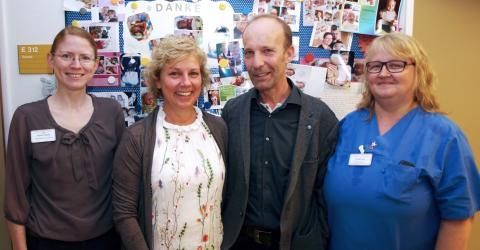 Thorsten Klotz hat mit seiner Firma IdentBeratung & Handel 1500 Euro an die Kinderintensivstation des St. Bernward Krankenhauses gespendet. Darüber freuen sich Karen Thiele, Anette Klotz und Eva Beining (von links).