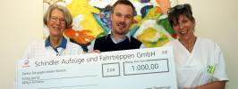 Übergabe der großzügigen Spende von der Firma Schindler